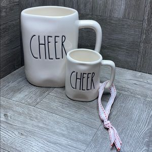 Rae Dunn CHEER mug & CHEER mini mug ornament NEW!